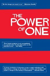 The Power of One - SGI Canada