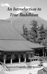 An Introduction to True Buddhism - Nichiren Shoshu Buddhist ...