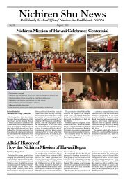 Nichiren Shu News 2012 August Issue (No. 191