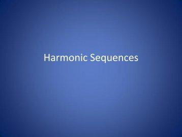 Harmonic Sequences