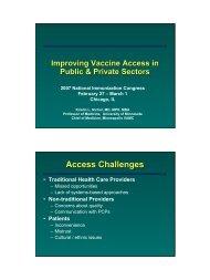 Immunization Congress Presentation: Kristin Nichol