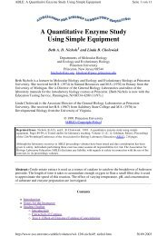 A Quantitative Enzyme Study Using Simple Equipment - SwissEduc