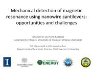 Mechanical detection of magnetic resonance using nanowire - Iramis