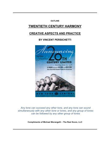TWENTIETH CENTURY HARMONY - The Reel Score