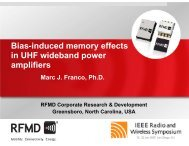 Bias-induced memory effects in UHF wideband ... - RF Micro Devices