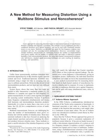 A New Method for Measuring Distortion Using a Multitone Stimulus ...