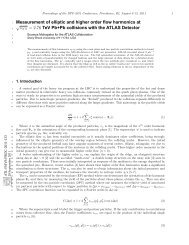 Measurement of elliptic and higher order flow harmonics at ... - CERN