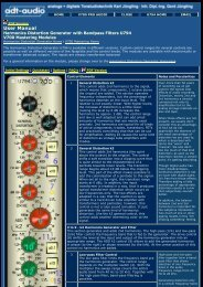 Stereo k2 / k3 Harmonics Generator with Bandpass ... - ADT Audio