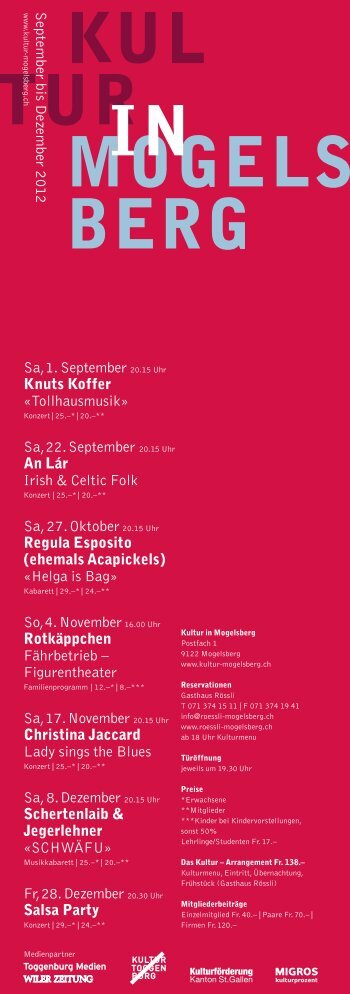 Halbjahresprogramm 2/2012 (PDF) - Kultur in Mogelsberg