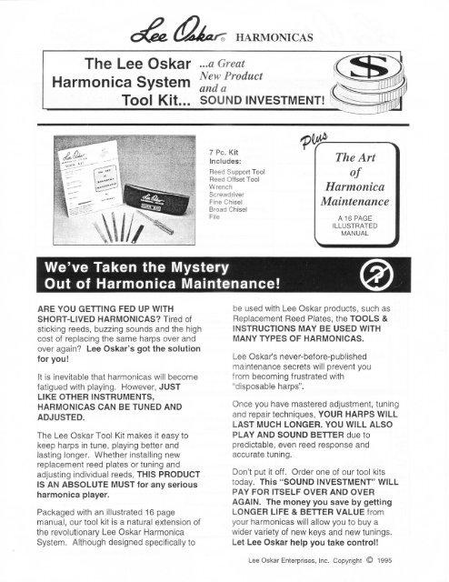 Part8-Toolkit-Harmonica-Maintenance pdf - Lee Oskar Harmonicas