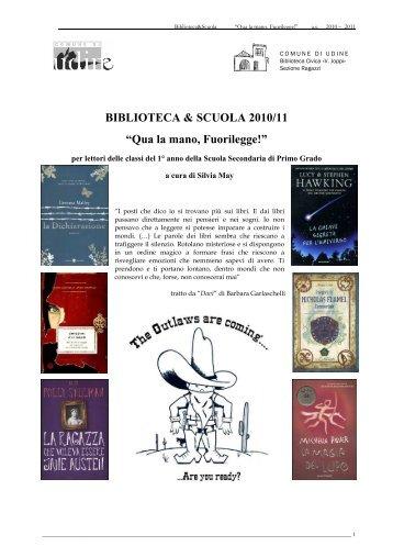BIBLIOTECA & SCUOLA 2010/11 - Udine Cultura