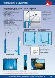 Hydraulische 2-Säulenlifte 99 - Roland Bertschi AG