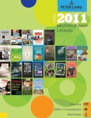 Multidisciplinary Textbook Catalog, Spring 2011 - Peter Lang