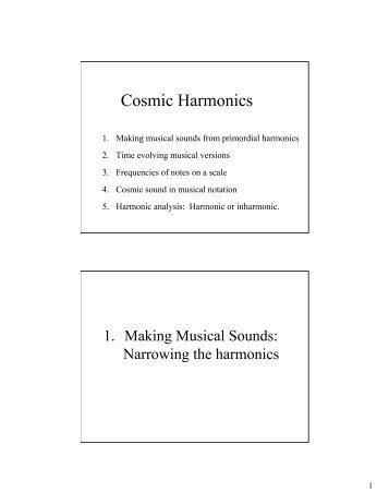Cosmic Harmonics
