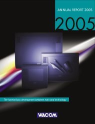 ANNUAL REPORT 2005 - Wacom