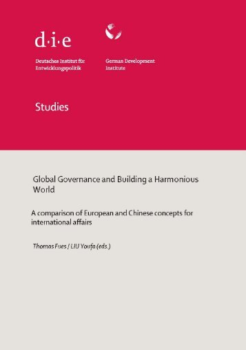 Global Governance and Building a Harmonious World - ETH Zürich