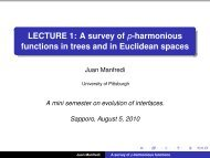 LECTURE 1: A survey of p-harmonious functions in trees and in ...