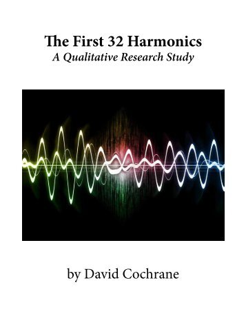 Free Online Book: The First 32 Harmonics - Cosmic Patterns Software