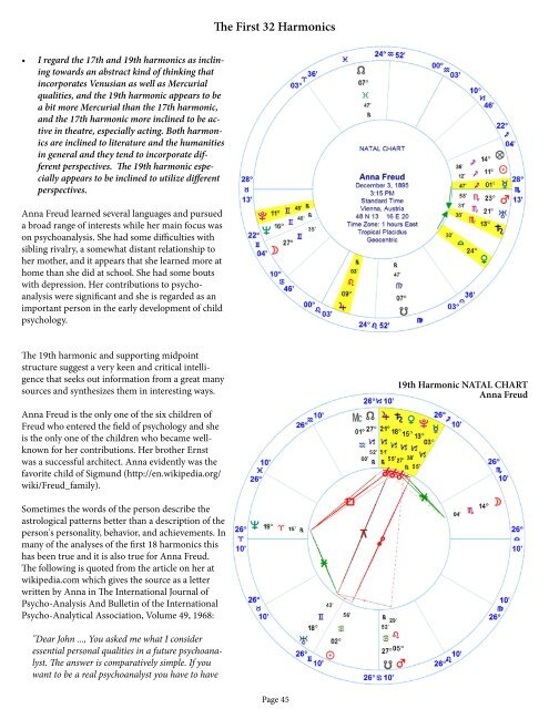 19th Harmonic NATAL CHART