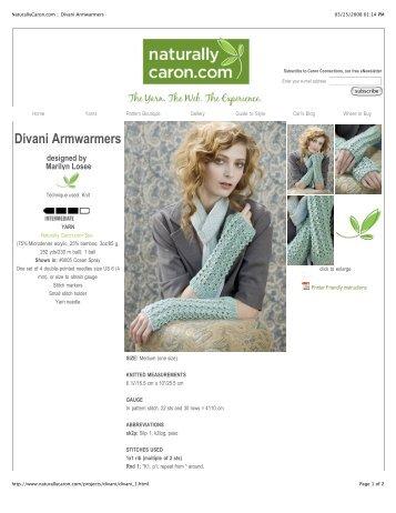 NaturallyCaron.com :: Divani Armwarmers