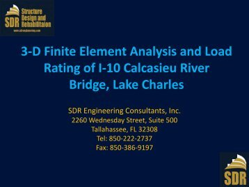 3-D Finite Element Analysis and Load Rating of I-10 Calcasieu River ...