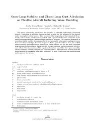 Open-Loop Stability and Closed-Loop Gust Alleviation on Flexible ...