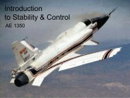 Introduction to Stability & Control