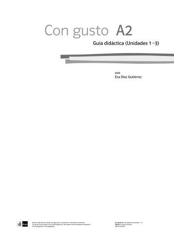 Con gusto A2 - Ernst Klett Verlag