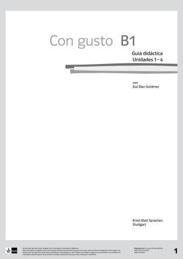 Con gusto B1 - Ernst Klett Verlag