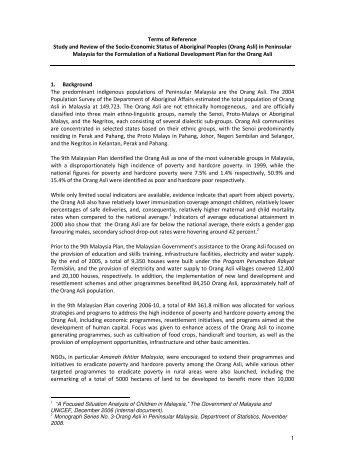 Orang Asli - United Nation Development Programme Malaysia