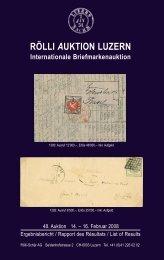 RÖLLI AUKTION LUZERN Internationale Briefmarkenauktion