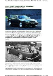 Aston Martin Shooting-Brake Ausstellung - Roos Engineering Ltd