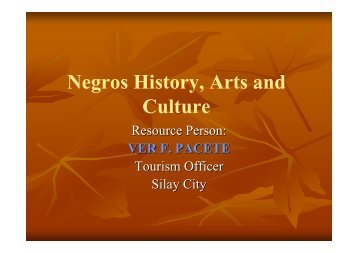 Negros history-arts and culture - iSchools