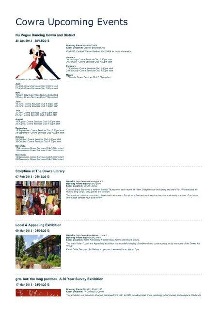 Cowra Upcoming Events - Cowra Tourism