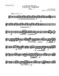 Fiesta de Negritos - Clarinet in Bb 3.mus - Celebra la Música