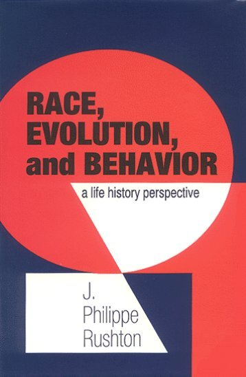 Race, Evolution, and Behavior