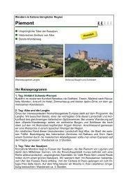 Piemont - Imbach Reisen AG