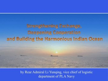 Presentation by China.pdf - Indian Ocean Naval Symposium