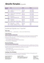Aktueller Kursplan (PDF) - Yogaschule Bergkamen