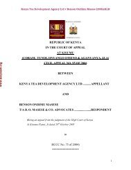 Download Case - Kenya Law Reports