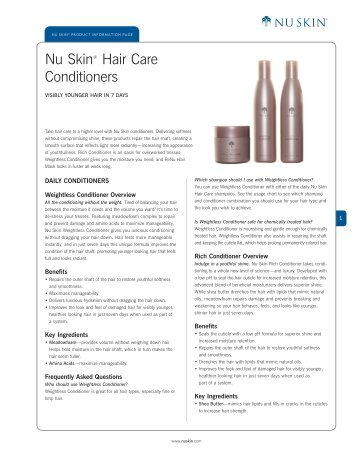 Nu Skin® Hair Care Conditioners