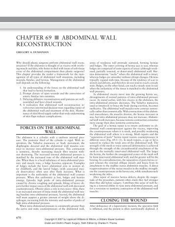 Chapter 69: Abdominal Wall Reconstruction - Gregory Dumanian ...