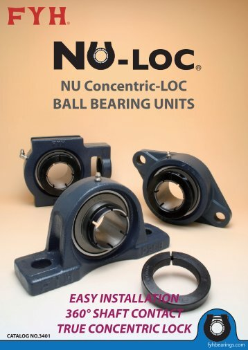 NU Concentric-LOC BALL BEARING UNITS