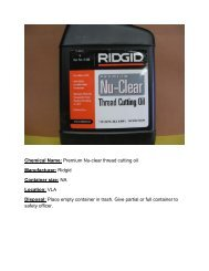 RIDGID Nu-Clear Thread Cutting Oil