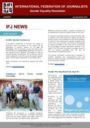 IFJ Gender Newsletter July 12 - International Federation of Journalists