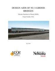 DESIGN AIDS OF NU I-GIRDER BRIDGES - Nebraska Department ...