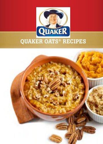 QUAKER OATS® RECIPES - The Whole Grains Council