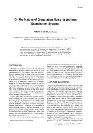 On the Nature of Granulation Noisein Uniform Quantization Systems*