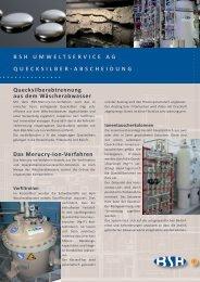 BSH Umweltservice Ag Q u e c k s i l b e r - A b s c h e i d u n g ...