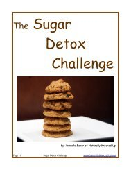 The Sugar Detox Challenge - Naturally Knocked Up